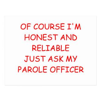 honest crook postcard
