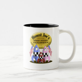 Honest Joe's Space Rocket Dealership Two-Tone Coffee Mug