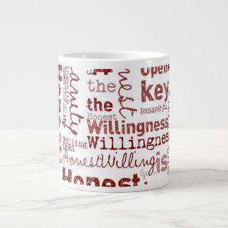 Honest Open Willing Extra Large Mugs