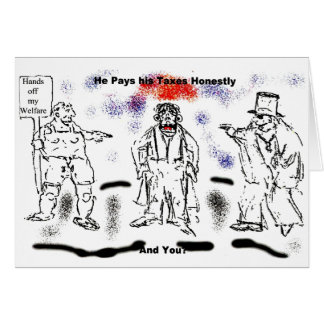 Honest Taxpayer greeting card