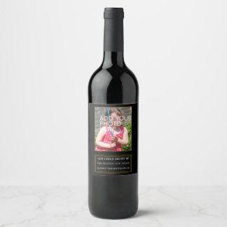 Honest teacher present wine bottle label