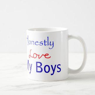 Honestly-Love-My-Boys Classic White Coffee Mug