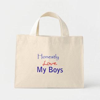 Honestly-Love-My-Boys Mini Tote Bag