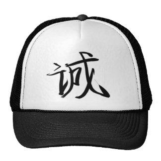Honesto o sincero (chino) gorro