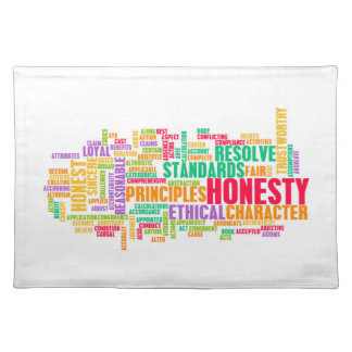 Honesty and Trustworthy Character of a Person Cloth Placemat
