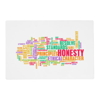 Honesty and Trustworthy Character of a Person Placemat