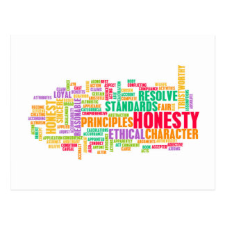 Honesty and Trustworthy Character of a Person Postcard