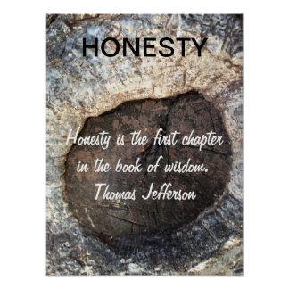 HONESTY Inspirational Quote Jefferson Poster