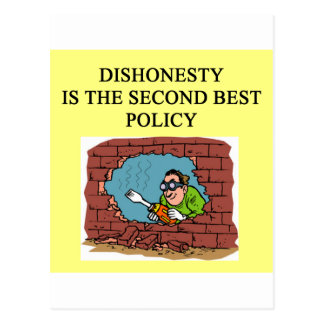 honesty is the best policy? postcard