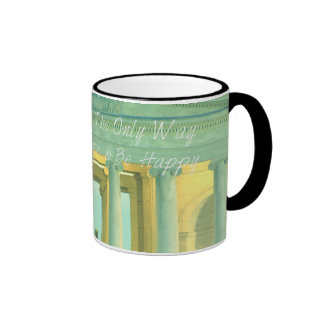 Honesty Is The Only Way to Live, Love&Be Happy! Ringer Mug
