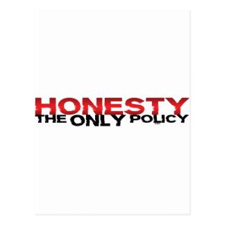 Honesty The Only Policy Postcard
