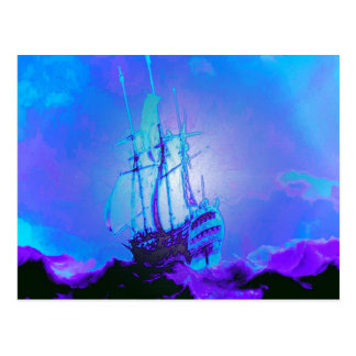 Honesty Truth Integrity Honor Ship Waves Postcard