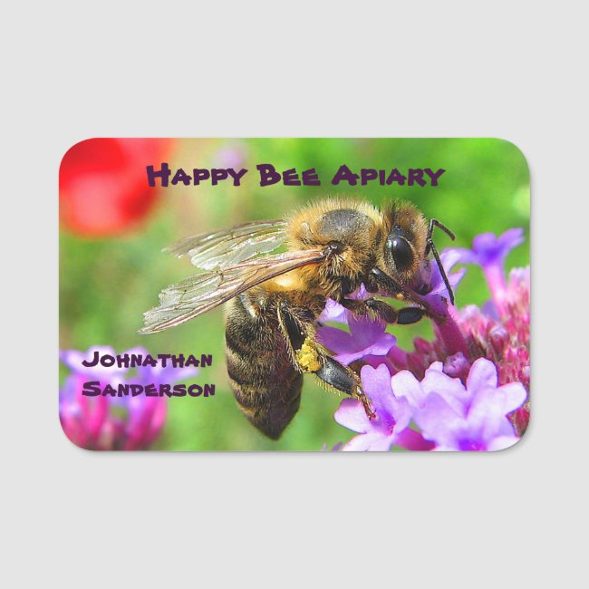 Honey and Bees for Sale Apiary Name Tag
