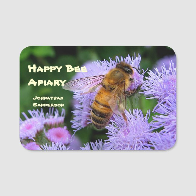 Honey and Bees for Sale Name Tag