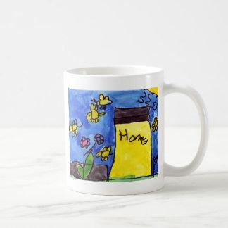 Honey and Bees Motif Coffee Mug