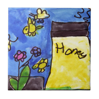 Honey and Bees Motif Tile
