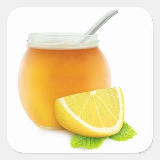 Honey and lemon square sticker