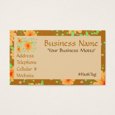 Professional Business Honey And Toasted Almond Flowered Business Card