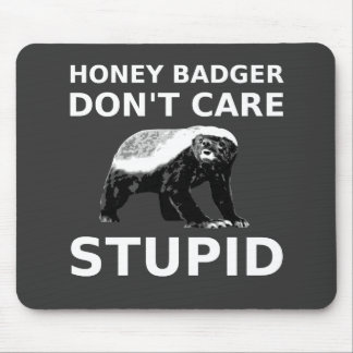 Honey Badge Don't Care STUPID (For Dark Colors) Mouse Pad
