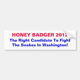 Honey Badger 2012 Bumper Sticker (Customizable)
