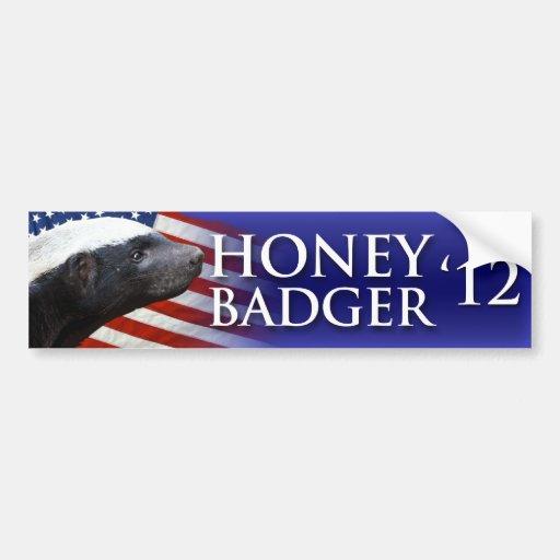 Honey Badger 2012 Car Bumper Sticker