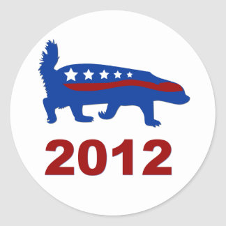 honey badger 2012 classic round sticker