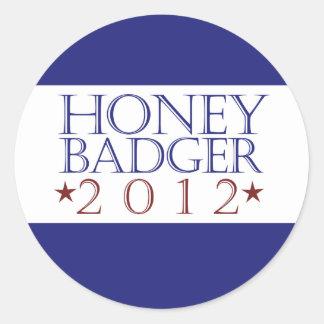Honey Badger 2012 Classic Round Sticker