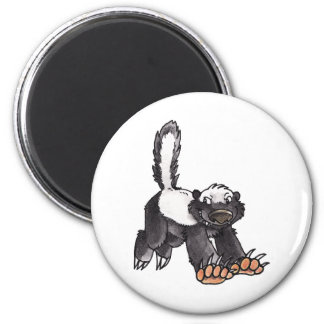Honey Badger 2 Inch Round Magnet