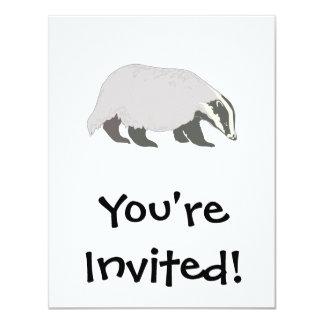 honey badger 4.25x5.5 paper invitation card
