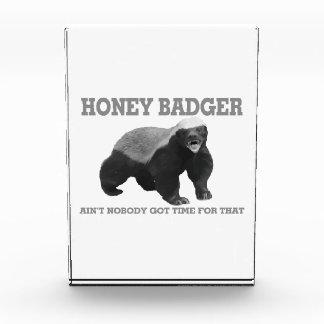 Honey Badger Ain't Nobody Got Time For That Acrylic Award