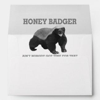 Honey Badger Ain't Nobody Got Time For That Envelope