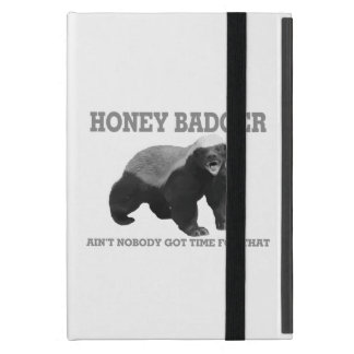Honey Badger Ain't Nobody Got Time For That iPad Mini Cover