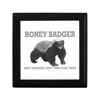 Honey Badger Ain't Nobody Got Time For That Jewelry Box