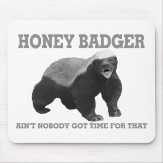 Honey Badger Ain't Nobody Got Time For That Mouse Pad