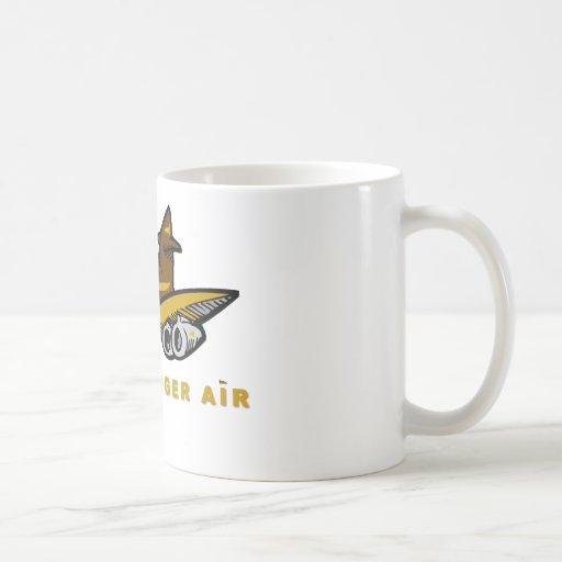 honey badger air classic white coffee mug