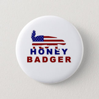 honey badger american flag button
