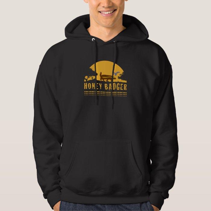 honey badger and bird hoodie