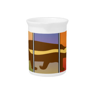 HONEY BADGER ART THREE PANEL SUPER SPECIAL DRINK PITCHER