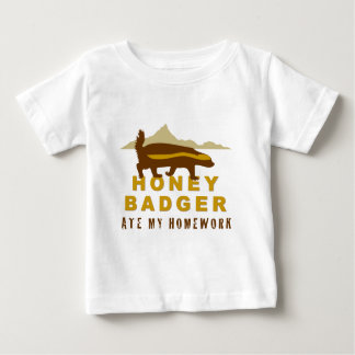 honey badger at my homework baby T-Shirt