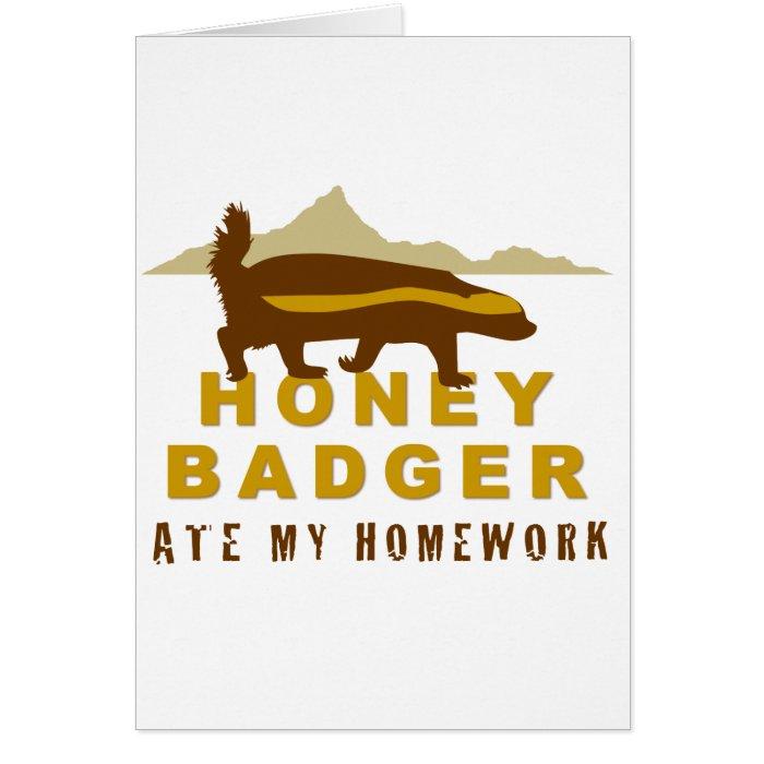 honey badger at my homework card