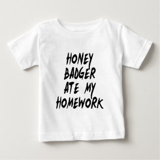 Honey Badger Ate My Homework Baby T-Shirt
