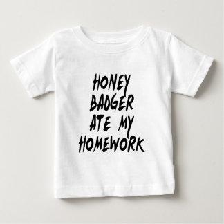Honey Badger Ate My Homework Baby T-Shirt