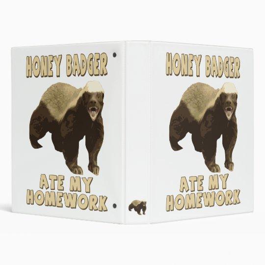Honey Badger Ate My Homework! Binder