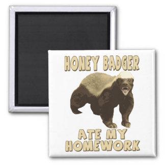 Honey Badger Ate My Homework Fridge Magnet