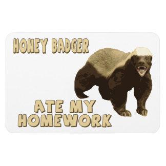 Honey Badger Ate My Homework Magnets