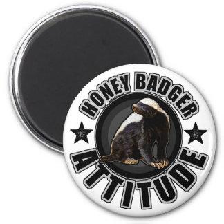 Honey Badger ATTITUDE - Round Design 2 Inch Round Magnet