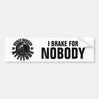 Honey Badger ATTITUDE - Round Design Bumper Sticker