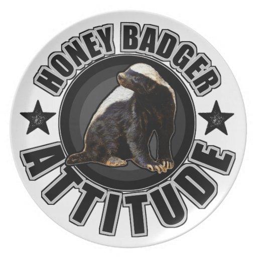 Honey Badger ATTITUDE - Round Design Dinner Plates