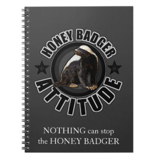 Honey Badger ATTITUDE - Round Design Notebook