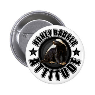 Honey Badger ATTITUDE - Round Design Pinback Button